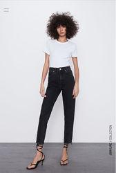 Zara мом джинсы 40,44  размер, высокая посадка