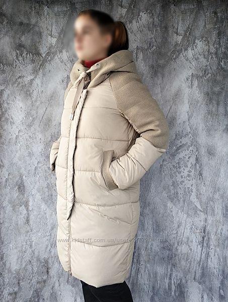 Красивое женское пальто, длинная куртка, еврозима, читайте описание товара