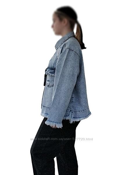Джинсовая куртка, пиджак, оверсайз, oversize, Турция можно и большой размер
