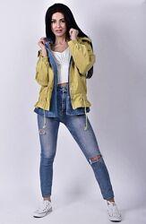 Стильная женская ветровка с имитацией джинсовой рубашки, куртка см. замеры