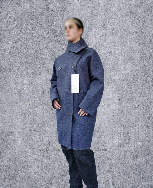 Женское демисезонное пальто кокон, стиль оверсайз, качество отличное