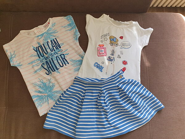 Комплект Mayoral юбка 2 футболки 6 лет