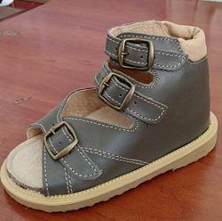 Обувь ортопедическая детская Весна серые