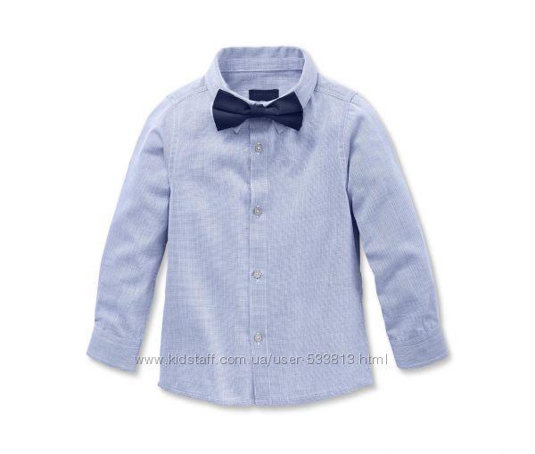 Классная детская хлопковая рубашка р. 158-164, 170-176, 122-128  TCM Tchibo