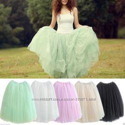 юбка из фатина фатиновая юбка зеленая мятная тиффани
