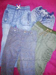 Разные брюки, джинсы на подкладе и без на 3-6 лет