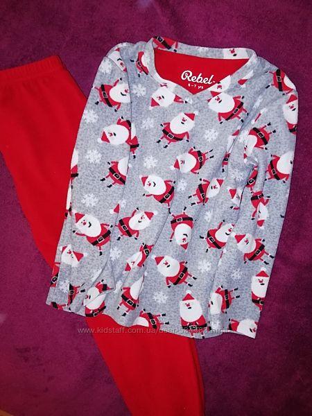 Флисовая пижама rebel 6-7 лет