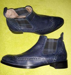 Синие ботинки челси, Италия, кожа р. 40
