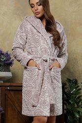 Короткий теплый халат