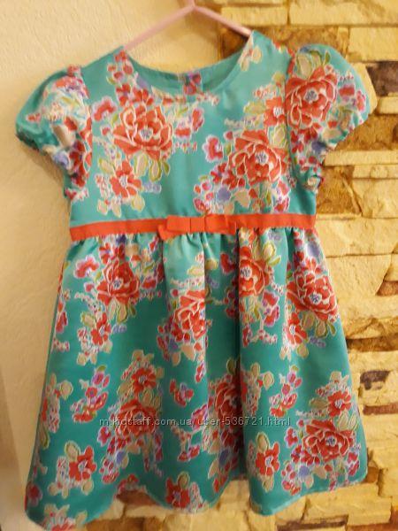 Атласное платье mothercare 98 см