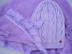 Шапка  подарок шаль
