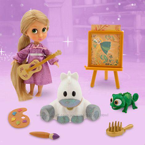 Кукла мини аниматор Рапунцель с набором игрушек.