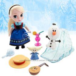 Кукла Эльза мини аниматор с набором игрушек
