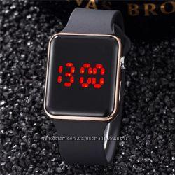 Цифровий годинник. Светодиодные, спортивные LED часы, под Apple Watch