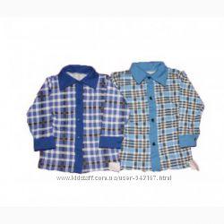 Рубашка для мальчика начес, байка