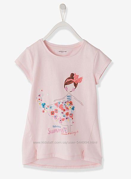 Хлопковая футболка, туника Vertbaudet на 14 лет, 154 см