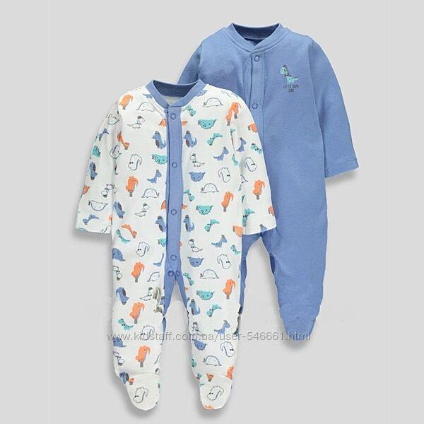 Человечки  Matalan, F&F, Mothercare,  для мальчика 0-1, 0-3, 3-6мес