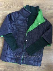 Синяя курточка Двустороння синяя-зеленая Размер L