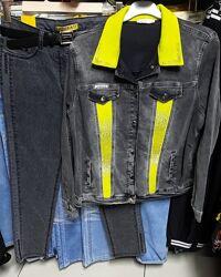 Джинсовка куртка, женский пиджак джинсовый Турция