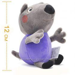 Мягкая игрушка щенок Денни из мультика про Свинку Пеппу