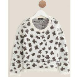 Новый теплый свитерок травка для девочки In extenso 3-14 лет