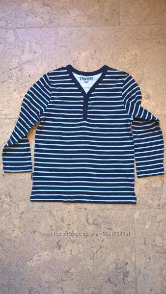Новаый реглан футболка-обманка реглан  для мальчика. полосатая. Тerranova