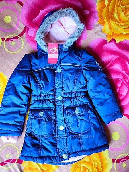 Курточка зимняя для девочки kiki&koko 3-7 лет