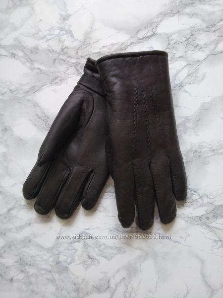 Новые мужские перчатки из натуральной кожи на меховой подкладке Беларусь