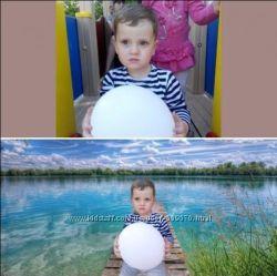 Photoshop. удаление , замена фона, обтравка Ретушь фотографий , Фотошоп