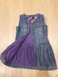 Красивый джинсовый сарафан Chicco 104 размера