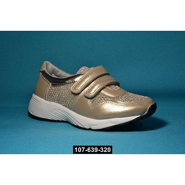 Дышащие кроссовки, слипоны для девочки, 32,33,36 размер, супинатор, кожаная стелька, 107-639-320