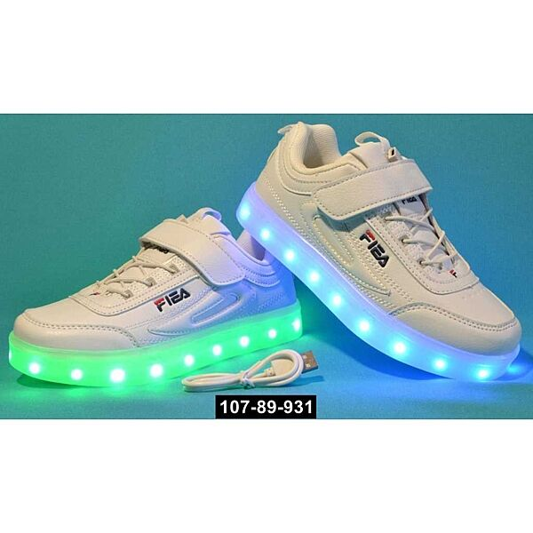 Детские светящиеся кроссовки, 27,28,29,30,31,32 размер, 11 режимов LED подсветки, супинатор, 107-89-931