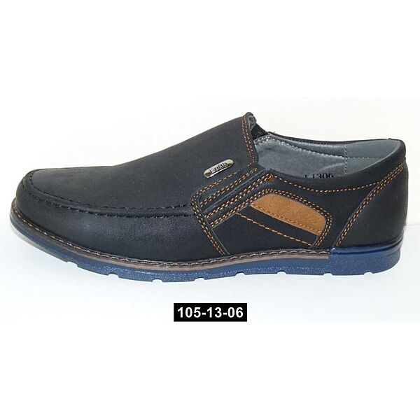 Туфли, мокасины для мальчика, 36,38 размер, школьные туфли, супинатор, 105-13-06