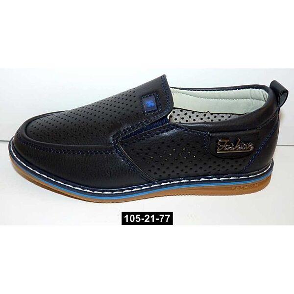Облегченные мокасины, туфли для мальчика, 27,28,29 размер, школьные, супинатор, кожаная стелька, 105-21-77
