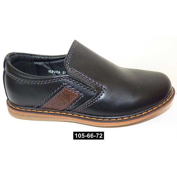 Прошитые туфли для мальчика, 27,29,31 размер, школьные, супинатор, кожаная стелька, 105-66-72