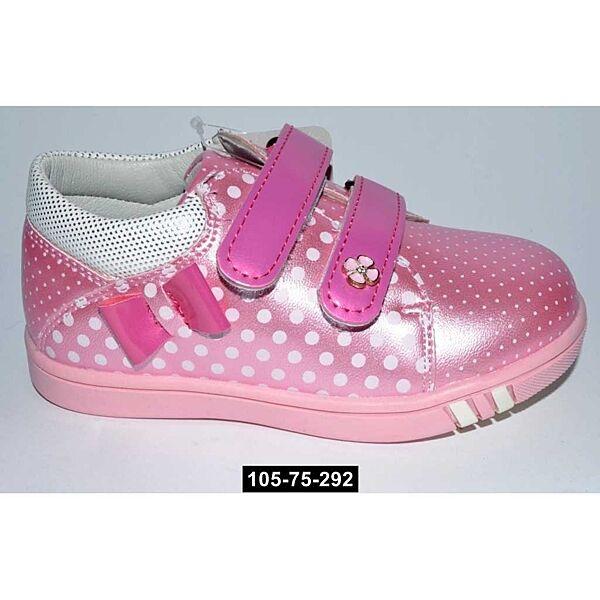 Туфли, полуботиночки для девочки, 22 размер, супинатор, кожаная стелька, 105-75-292