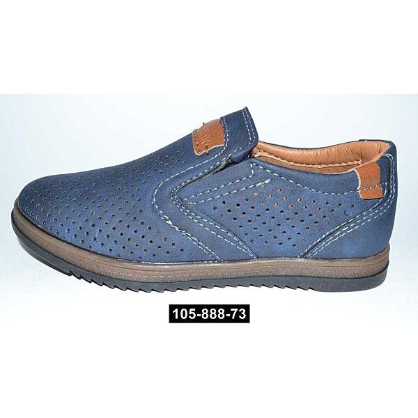 Летние мокасины, туфли для мальчика, 27,28 размер, школьные, супинатор, кожаная стелька, 105-888-73