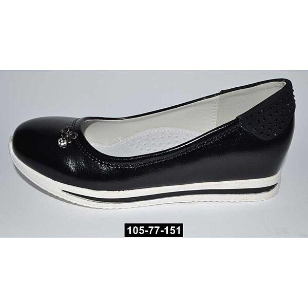 Туфли школьные для девочки, сникерсы, 34 размер, супинатор, кожаная стелька, 105-77-151