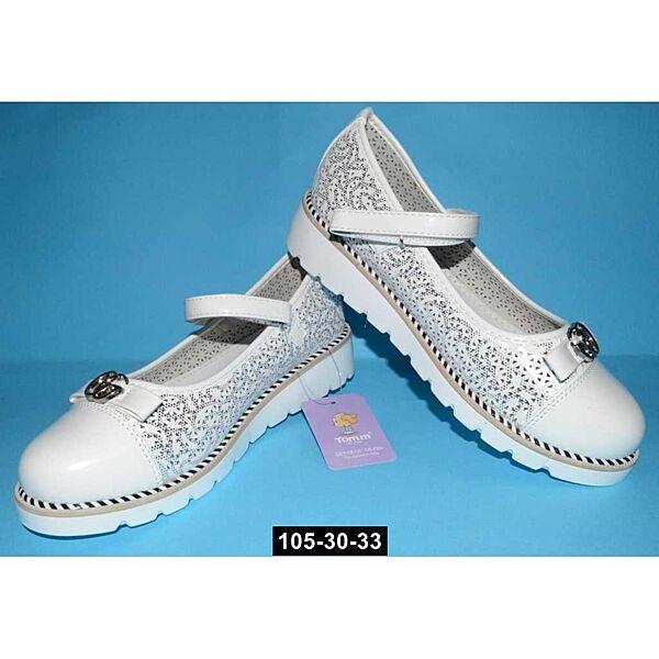 Нарядные облегченные туфли для девочки Том. м, 33,34,35,36,37,38 размер, кожаная стелька, супинатор, 105-30-33