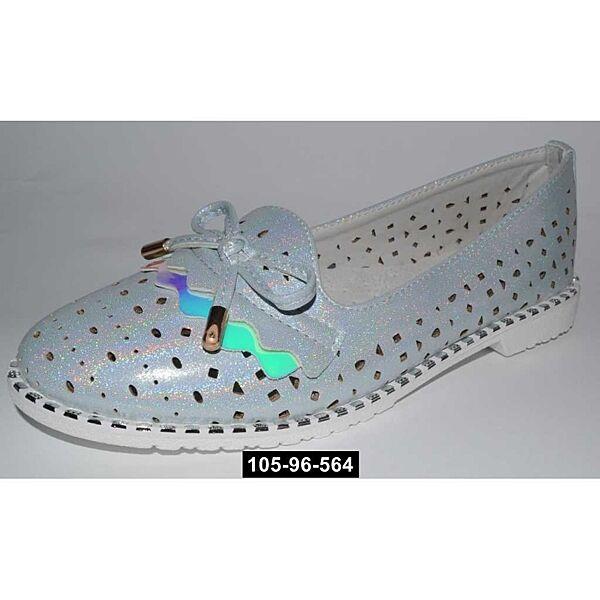 Облегченные слиперы, туфли, балетки для девочки, 34,35,36,37 размер, супинатор,  кожаная стелька, 105-96-564