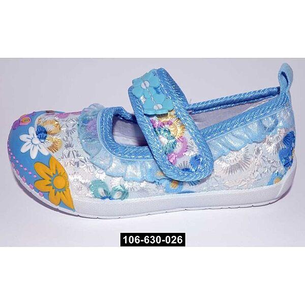 Туфельки, мокасины для девочки, 20,23 размер, тапочки Super Gear, супинатор, 106-630-026