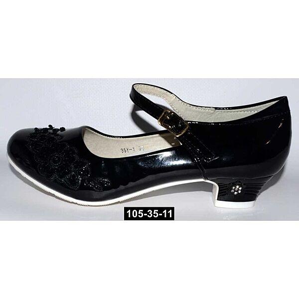 Нарядные туфли для девочки, 35,36,37 размер, праздничные туфельки на утренник, выпускной, 105-35-11