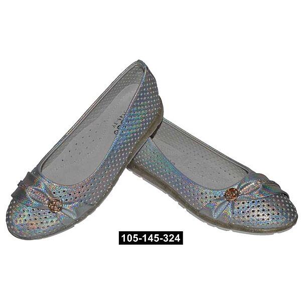 Облегченные балетки, туфли для девочки, 32,33,34,35,36 размер, кожаная стелька, супинатор, 105-145-324