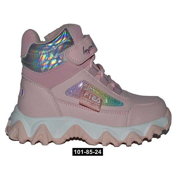 Демисезонные ботинки для девочки, 26,27,28,29,30,31 размер, хайтопы, 101-85-24