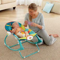 Массажное кресло-качалка Сафари Fisher-Price Infant To Toddler Rocker
