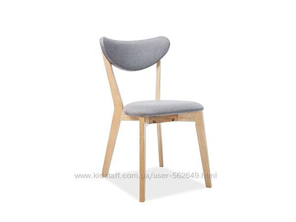 Крісло стілець кухонний столовий Signal Brando дуб / сірий