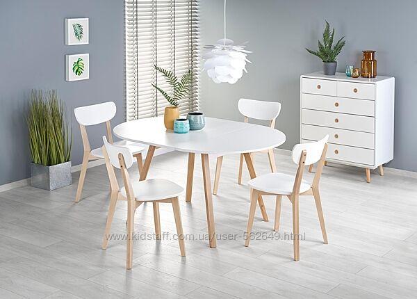 Стіл столовий розкладний деревяний Halmar RUBEN білий