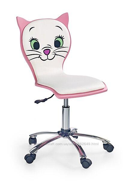Крісло компютерне дитяче Halmar Kitty 2 біло-рожевий