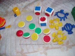 Магнитные кубики, конструктор, животные