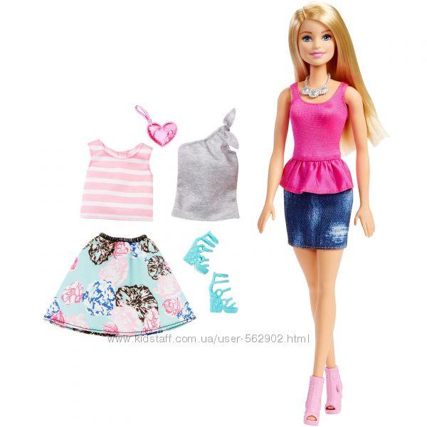 Кукла Барби с дополнительными нарядами, Barbie, Mattel DMN98. В наличии.